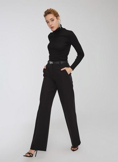 People By Fabrika Bol Paçalı Pantolon Siyah